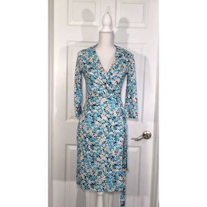 New DVF Julian Two jersey dress in garden daisy